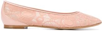 Chloé Lace Panel Ballerina Shoes