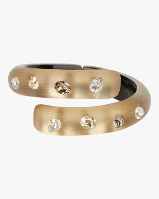 Alexis Bittar Crystal Studded Bypass Hinge Bracelet