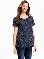 Old Navy Maternity Swing Floral Tee