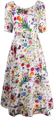 Samantha Sung Aster floral print dress