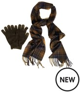 Barbour Scarf And Glove Gift Box - Classic/olive