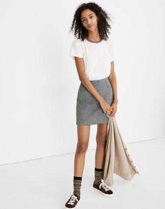 Madewell Herringbone Assembly A-Line Mini Skirt
