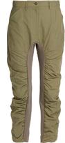 Stella McCartney Contrast-panel gathered slim-leg trousers