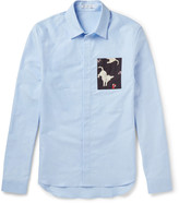 J.w.anderson - Slim-fit Contrast-trimmed Cotton Oxford Shirt