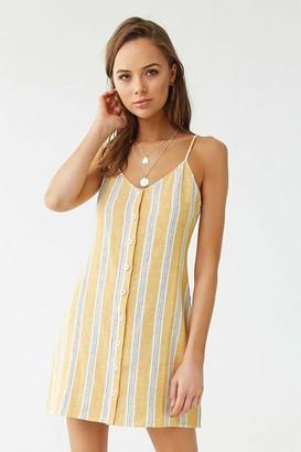 Forever 21 Linen-Blend Striped Cami Dress