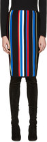 Versace Multicolor Striped New York Skirt
