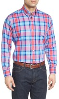 Tailorbyrd Men's Big & Tall Redwood Plaid Sport Shirt