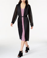 Kensie Sheer-Sleeve Duster Cardigan