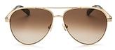Kate Spade Amarissa Brow Bar Aviator Sunglasses, 58mm