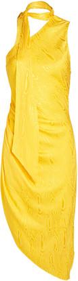 Ronny Kobo Zoey Moire Asymmetrical Mini Dress