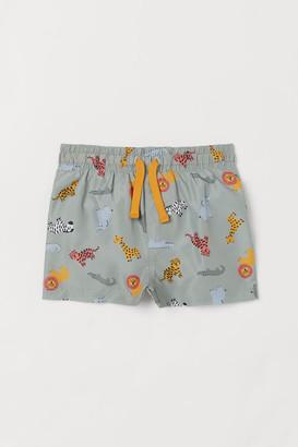 H&M Patterned Swim Shorts - Green