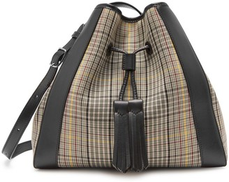Mulberry Small Millie Tote Black and Khaki Small Tartan Check