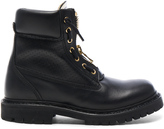 Balmain Leather Taiga Boots