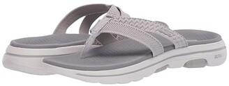 SKECHERS Performance Go Walk 5 - Sun Kiss (Black/Gray) Women's Sandals