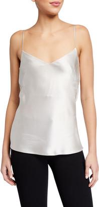 Galvan V-Neck Thin-Strap Satin Camisole Top