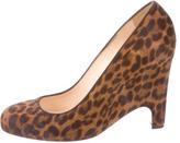 Christian Louboutin Leopard Print Ponyhair Wedge