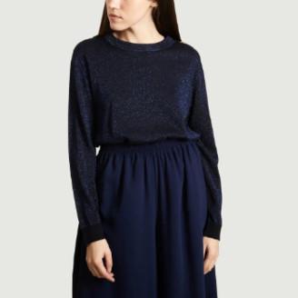 Chloé Stora - Navy Blue Wool Nina Jumper - wool | navy blue | 1 - Navy blue