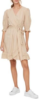 Vero Moda Tara Eyelet Wrap Minidress