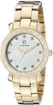Cabochon Women's 16604-YG-22 Carmel Analog Display Quartz Gold Watch