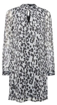 Dorothy Perkins Womens **Billie & Blossom Silver Leopard Print Twist Dress, Silver
