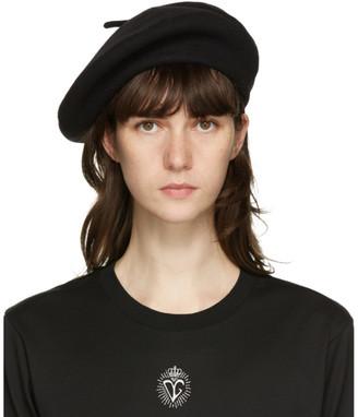 Dolce & Gabbana Black Wool Beret