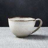 Crate & Barrel Cheshire White And Brown Mug