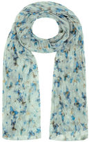 Yours Clothing Yoursclothing Plus Size Womens Green Butterfly Print Crinkled Scarf Shawl Wrap