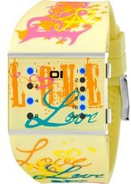 01 The One 01TheOne Women's SLSL137B3 Slim Square Classic LED Watch