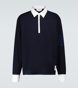 Thom Browne Long-sleeved rugby polo shirt