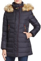 Vince Camuto Faux Fur-Trim Puffer Coat