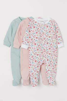 H&M 3-pack Jumpsuits - Pink