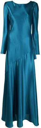 Alberta Ferretti Bias Cut Silk Gown