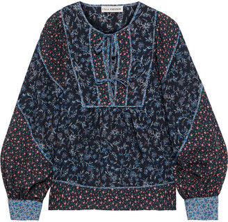 Ulla Johnson Colette Paneled Floral-print Cotton-blend Blouse
