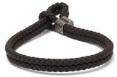 Bottega Veneta - Double Intrecciato Woven Leather Bracelet - Mens - Brown