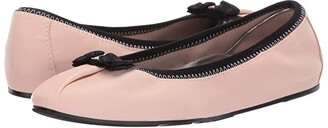 Salvatore Ferragamo Joy Ballet Flat (Nero Nappa Guanto) Women's Flat Shoes