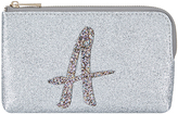 Accessorize Glitter A Alphabet Ziptop Coin Purse