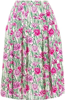 Giambattista Valli Floral Pleated Skirt