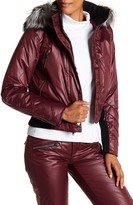 Spyder Bella Genuine Fox Fur Trim Waterpoof Down Jacket