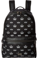 Dolce & Gabbana Vulcano Crown Print Backpack Backpack Bags