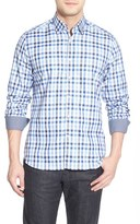 Stone Rose Men's Trim Fit Check Sport Shirt