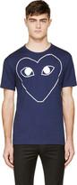 Comme des Garcons Navy & White Logo T-Shirt