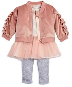Miniclasix Girls' Jacket, Tutu Tunic & Leggings Set - Baby