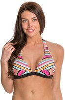 Jessica Simpson Vaquera Banded Halter Bikini Top 8125031