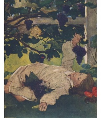 Posterazzi The Everyday Fairy Book 1915 In the shade of the tree Canvas Art - Jessie Willcox Smith (18 x 24)