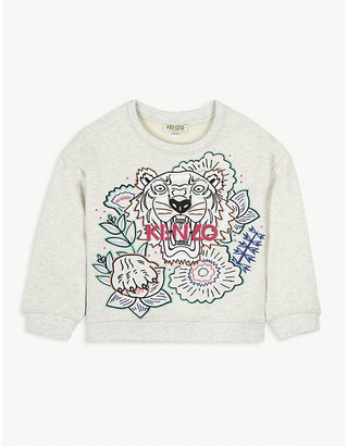 Kenzo Floral logo-print cotton sweatshirt 4-14 years