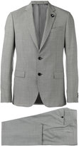 Lardini patterned formal two-piece suit - men - Cotton/Polyester/Cupro/Wool - 48