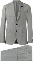 Lardini patterned formal two-piece suit - men - Wool/Polyester/Cupro/Cotton - 48