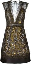 Alberta Ferretti metallic fitted dress