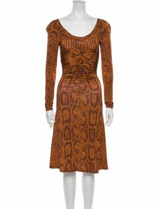 By Malene Birger Vintage Knee-Length Dress w/ Tags Orange