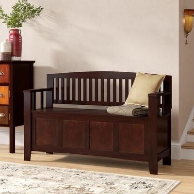 Pleasant Alcott Hill Garrity Wood Storage Bench Alcott Hill Dailytribune Chair Design For Home Dailytribuneorg